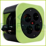 "Cablebox ""S-Box"" plastic, 4way, 10m,  3G1.5mm², green, IP20 0010012400"