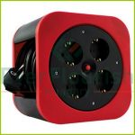 """Cablebox """"S-Box"""" plastic, 4way, 10m,  3G1.5mm², red, IP20 0010012600"""
