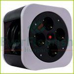 """Kábelbox """"S-Box"""" műanyag 4 dugaljjal, szürke 0010012800"""