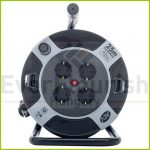 Cable reel, plastic 25m, 4way  H05VV-F 3G1,5 (0010105512) 0010105463