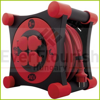 cable reel, outdoor, plastic, 40m, 4 socket outlet XPRO 3X1.5 IP44 0010137400