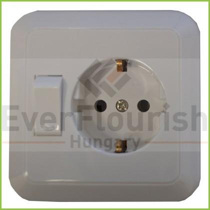 Angle plug with protection contact, white 00110