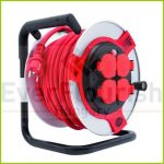 Cable reel, sheet steel, 25m, 4way, 3x1.5 H07RN-F IP44 0011215612