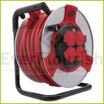 Cable reel, sheet steel, 40m, 4way, 3x1.5 H07RN-F IP44 (0088961) 0011305612