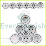 """Multiple socket outlet """"Supraflex"""" 5ways with switch, 3G1.5mm², 1.4m, white 0015520115"""