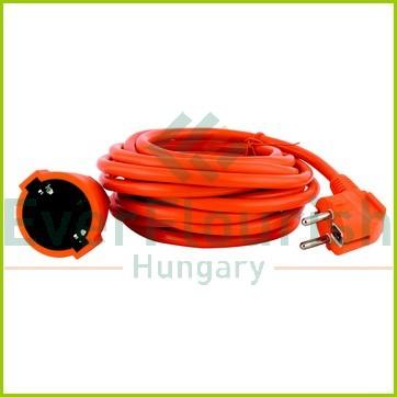 Földelt lengő hosszabbító 10m-es 3x1.5, narancssárga 0016101814