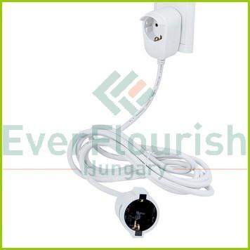 Földelt lengő hosszabbító Powersplit 3m-es 3x1.5, fehér 0016130114