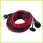 Földelt lengő hosszabbító csf. 10m 3x1.5 piros-fekete IP44 0017100614