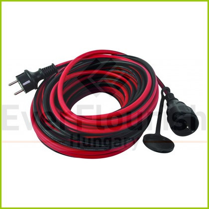 Extension cable with flap. 10m 3x1.5 red-black IP44 0017100614