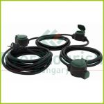 Földelt lengő hosszabbító csapfedeles, 10m, 3x1.5, 3dugaljjal fekete-zöld Supraflex IP44 0017103512