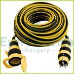 Földelt lengő hosszabbító csapfedeles, 25m, 3x1.5, sárga-fekete 0017250214