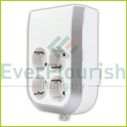 MultiPower 4-es földelt elosztó adapter, fehér 0020340112