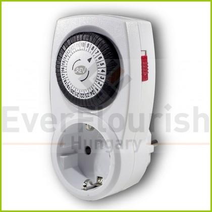 Időkapcsoló, mechanikus, napi, 30 perc, fehér  0025200103