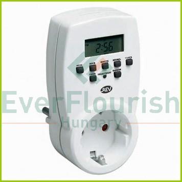 Időkapcsoló, digitális, heti, fehér  0025300103