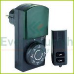 Időkapcsoló, mechanikus, visszaszámláló funkcióval, 1000W, távirányitóval IP44 0025730502