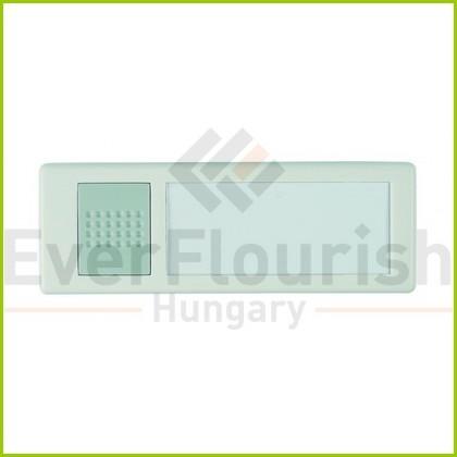 Csengő nyomógomb névtáblával  vez néküli fehér 0046898