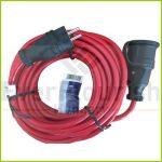 Földelt lengő hosszabbító csf. 10m 3x1.5 piros IP44 006316