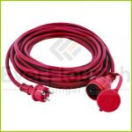 Extension cable with flap 10m 3x1.5 red IP44 0063169