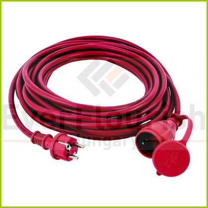 Földelt lengő hosszabbító csf. 10m, H05RR-F 3x1.5, piros IP44 0063169