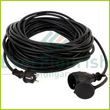 Extension cable with flap 25m, H05RR-F 3G1.5mm², IP44, black 0065259