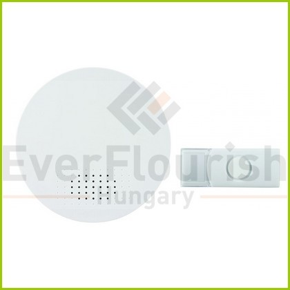 Csengő, vezeték nélküli, 100m, 36 dallam fehér 0082430103