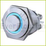 Csengő nyomógomb beépíthető, fém, kék LED fénnyel 0083076302