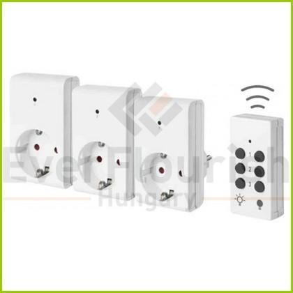 Távirányítós szett, 1 távirányító + 3 dugalj, 3x1000W 25m 00834514
