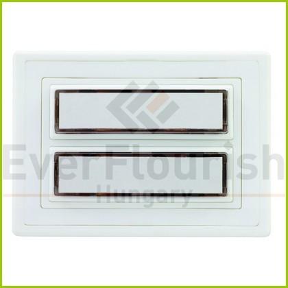Csengő nyomógomb névtáblával 2-es fehér világítással 0083620102
