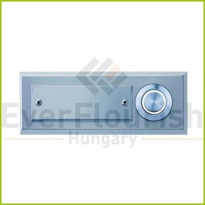 Csengő nyomógomb névtáblával 1-es acél LED világítással 0083646302