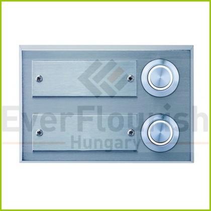 Csengő nyomógomb névtáblával 2-es acél LED világítással 0083656302