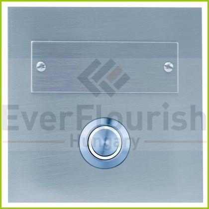 Csengő nyomógomb névtáblával 1-es négyzet acél LED világítással 0083676302