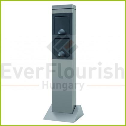 Kerti energiaoszlop 2 dugaljjal, ezüst 0087710712