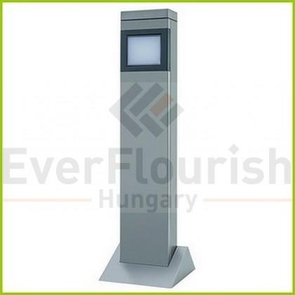 Kerti energiaoszlop lámpával, ezüst 0087730712