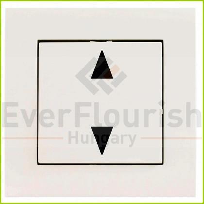 L2H Wifi süllyesztett redőnykapcsoló kerettel fehér 0088167090
