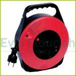 Kábelbox műanyag 10m 4 dugalj, 3x1.5, fekete/piros 008818