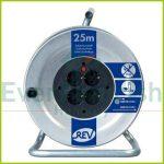 Kábeldob, fém 25m 4 dugalj, 3x1.5 H05VV-F IP20 008838