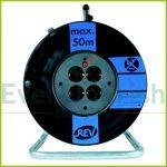 Kábeldob, üres, műanyag, max.: 50m kábel 4 dugalj 008840
