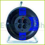 Cable reel plastic, 4way, 50m 008844