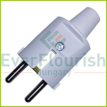 Földelt lengő dugó (PVC) középső kivezetéses, szürke 0105H