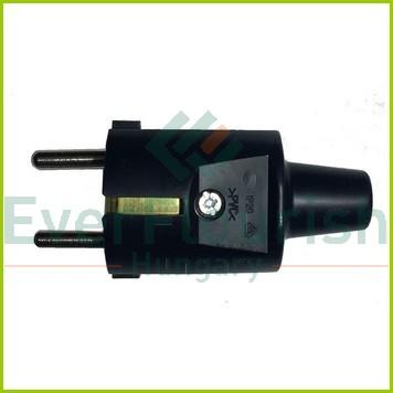 Földelt lengő dugó (PVC) középső kivezetéses, fekete 0136H