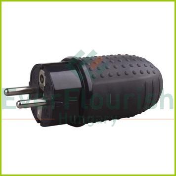 Földelt lengő dugó (gumi) középső kivezetéses, fekete 0145H