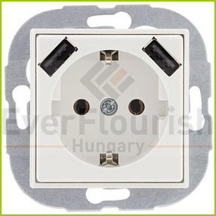 Optima földelt dugalj USB aljzattal 0221130106