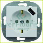 Architaste földelt dugaszolóaljzat USB töltővel, fehér 0221142604