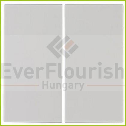 Optima kapcsolófedlap dupla fehér 0221420106