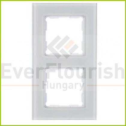 Optima keret kettes üveg fehér  0254826202