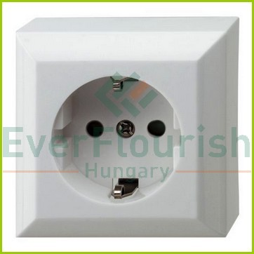 BUSINESS LINE 1way grounding-socket, surface mount, white, IP20 0310H
