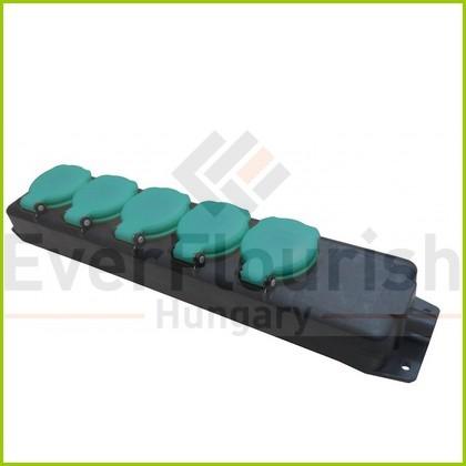Földelt kültéri elosztó 5-ös 1.4m 3x1.5 zöld/fekete 0389H