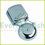 Surface-type alarm bell, 8-12V, 85dB, chrome 04015