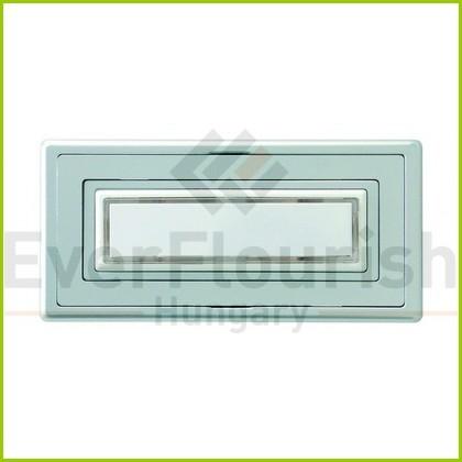 Csengő nyomógomb névtáblával 1-es ezüst világítással 0504330555