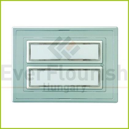 Csengő nyomógomb névtáblával 2-es ezüst világítással 0504340555